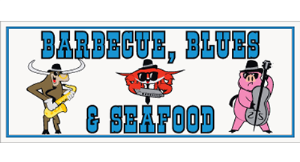 Barbecue, Blues & Seafood logo