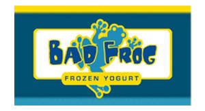 Bad Frog Frozen Yogurt logo