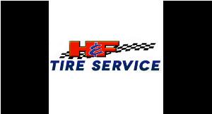 H & F Tire Service logo
