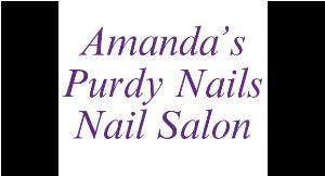 Amanda's Purdy Nails logo