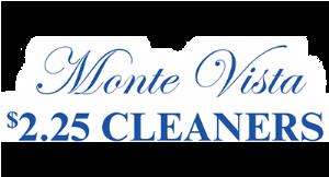 Monte Vista $2.25 Cleaners logo