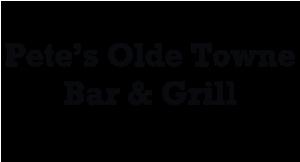 Pete's Olde Towne Bar logo