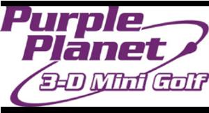 Purple Planet 3-D Mini Golf logo