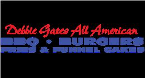 Debbie Gates All American BBQ, Burgers, Fries & Funnel Cakes logo