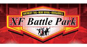 Product image for XF BATTLE PARK $15 For 2 1-Hour Battle Passes Including Nerf Rival, Archery Tag & Dodgeball (Reg. $30)