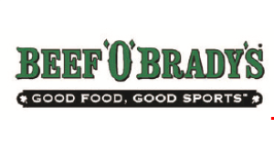 Product image for Beef 'O' Brady's $3 OFF $15 or more.