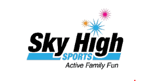 Product image for Sky High Sports Trampoline Park $30 Off any party package.