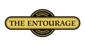 The Entourage Home of The Numero Uno Pizza logo