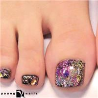 $32.50 For Rockstar Glitter Toes With Mini Massage ($65 Value)